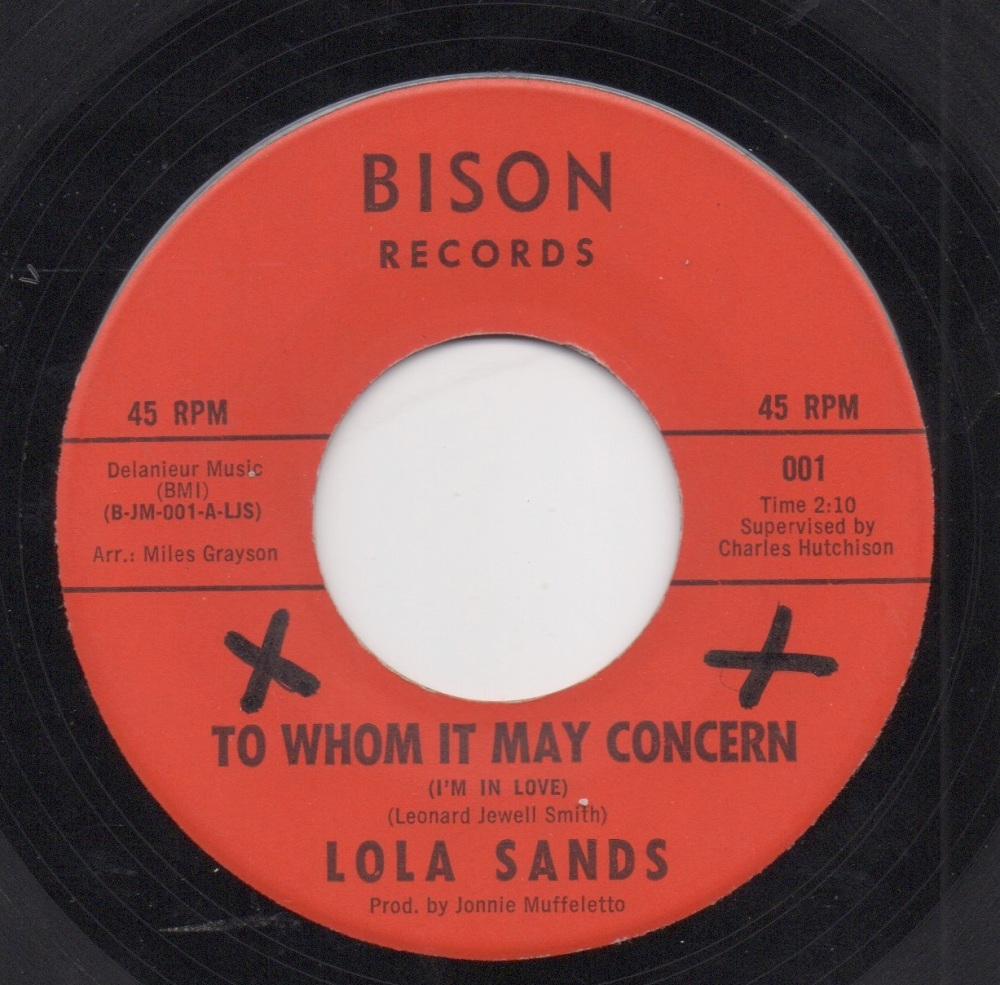 LOLA SANDS - TO WHOM IT MAY CONCERN