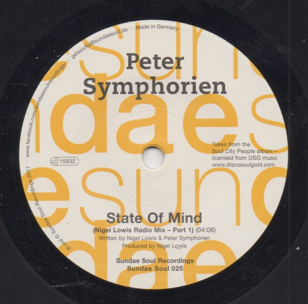 PETER SYMPHORIEN - STATE OF MIND (NIGEL LOWIS RADIO MIX - PART 1) / STATE O