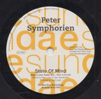 PETER SYMPHORIEN - STATE OF MIND (NIGEL LOWIS RADIO MIX - PART 1) / STATE OF MIND (NIGEL LOWIS RADIO MIX - PART 2)