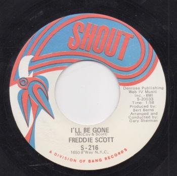 FREDDIE SCOTT - I'LL BE GONE