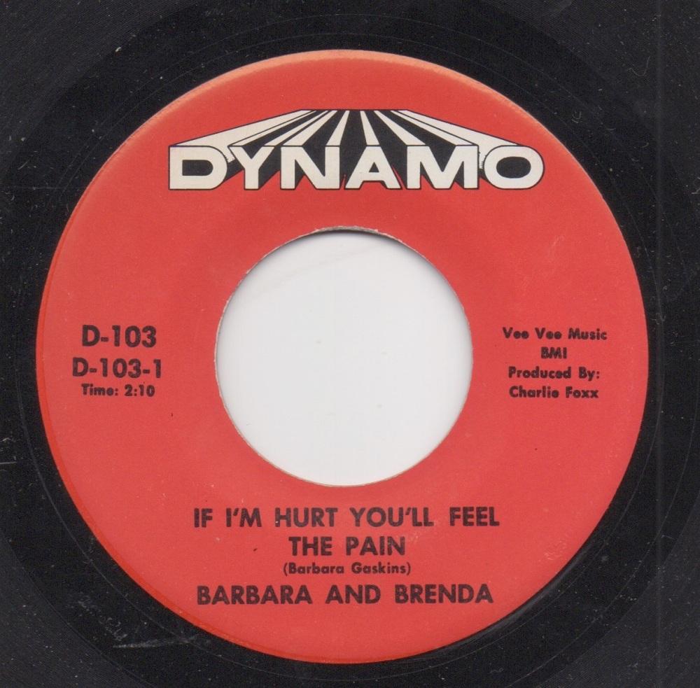 BARBARA & BRENDA - IF I'M HURT YOU'LL FEEL PAIN