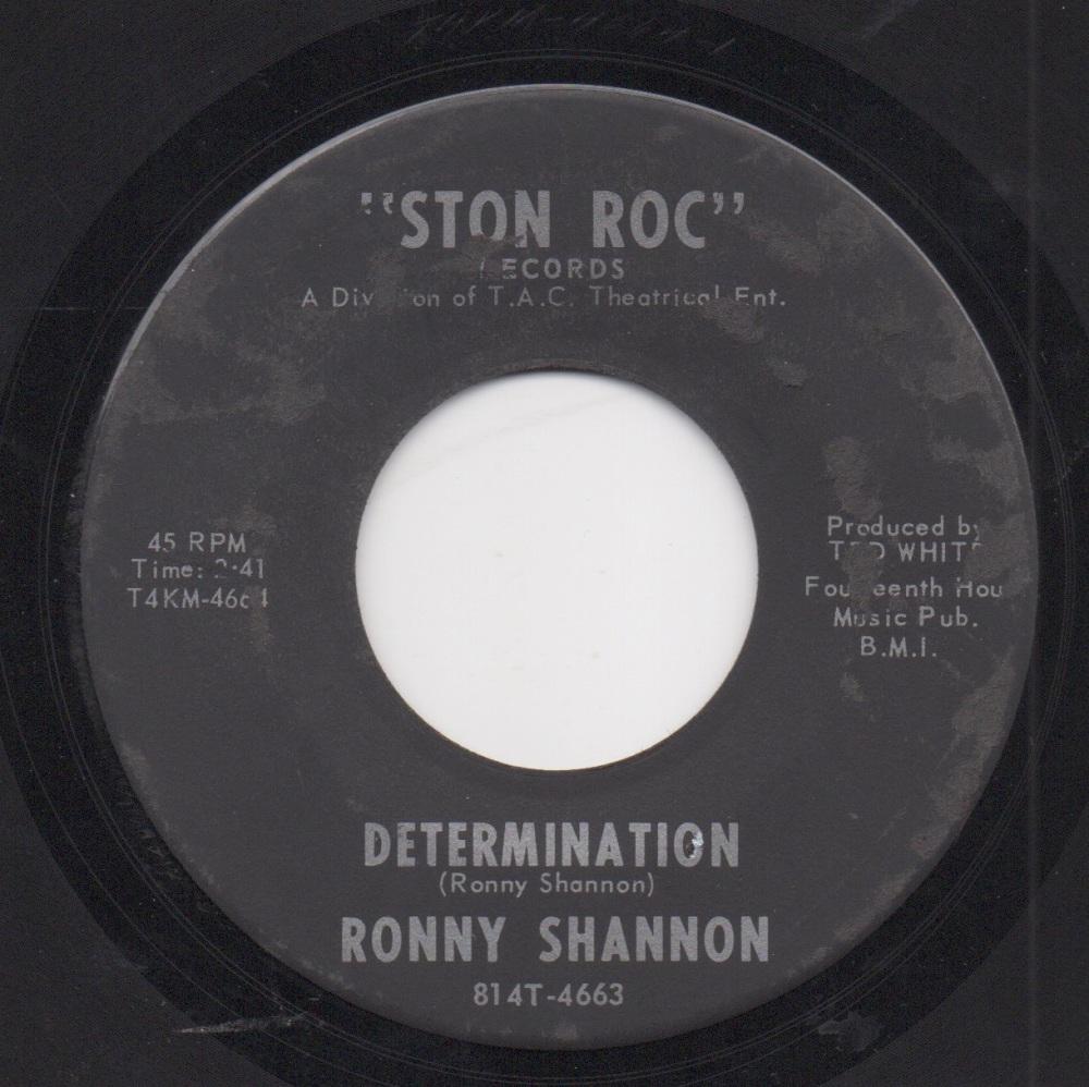 RONNY SHANNON - DETERMINATION