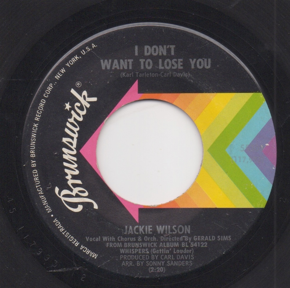 JACKIE WILSON - I DON'T WANT TO LOSE YOU / JUST BE SINCERE