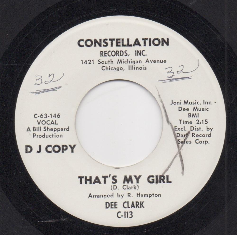 DEE CLARK - THAT'S MY GIRL
