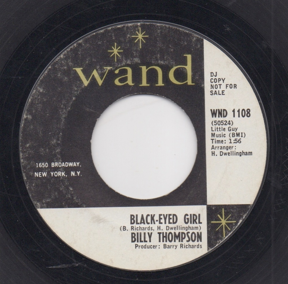 BILLY THOMPSON - BLACK-EYED GIRL