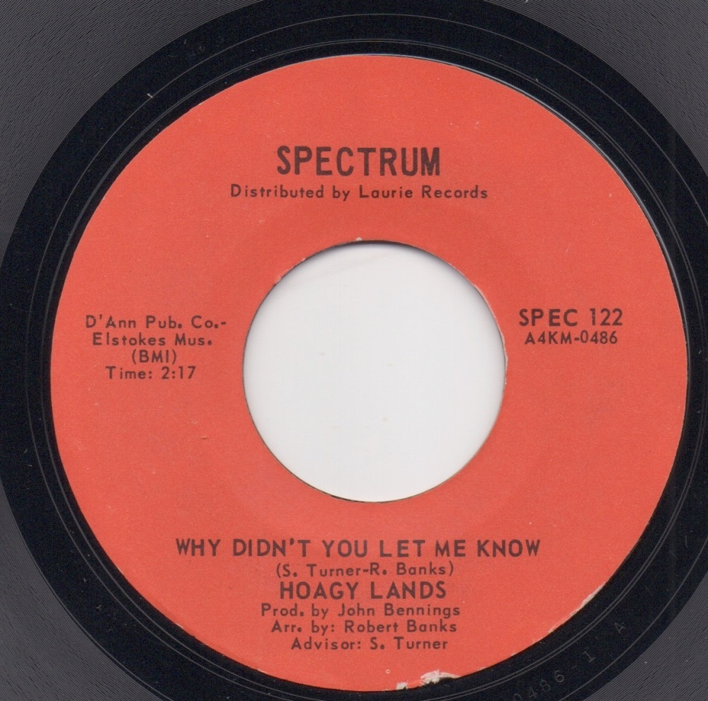 HOAGY LANDS - WHY DIDN'T YOU LET ME KNOW / DO YOU KNOW WHAT LIFE IS ALL ABO