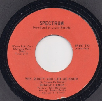 HOAGY LANDS - WHY DIDN'T YOU LET ME KNOW / DO YOU KNOW WHAT LIFE IS ALL ABOUT