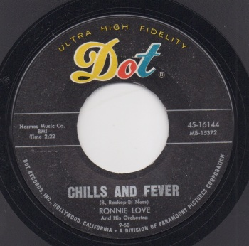 RONNIE LOVE & HIS ORCHESTRA - CHILLS & FEVER