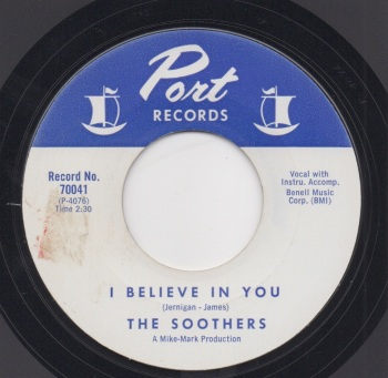 SOOTHERS - I BELIEVE IN YOU