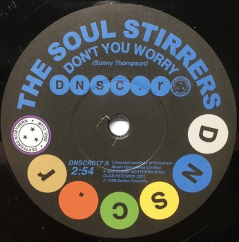 SOUL STIRRERS / SPINNERS - DON'T YOU WORRY / MEMORIES OF HER LOVE KEEP HAUNTING ME