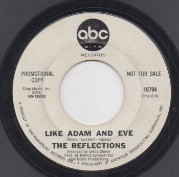 REFLECTIONS - LIKE ADAM & EVE