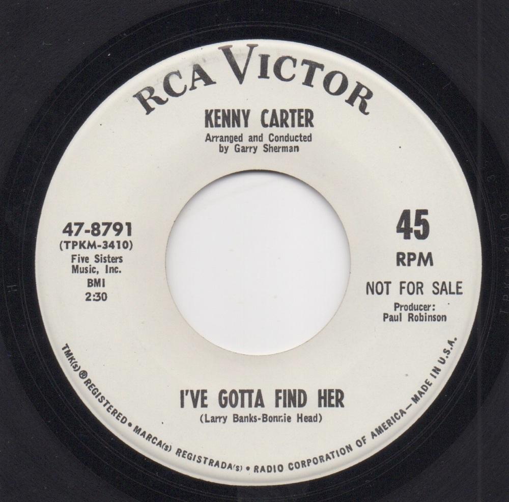 KENNY CARTER - I'VE GOTTA FIND HER