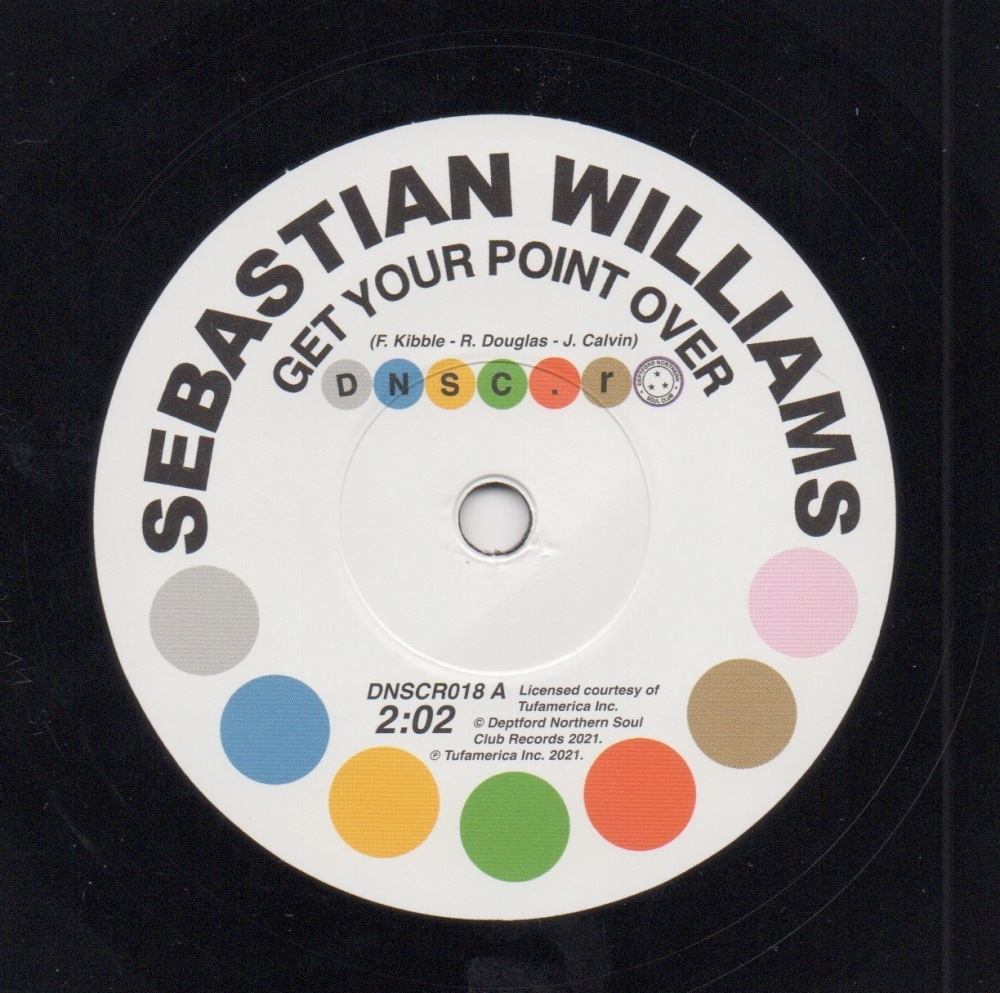 SEBASTIAN WILLIAMS - GET YOUR POINT OVER / I DON'T CARE WHAT MAMA SAID (BAB