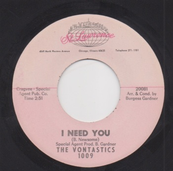VONTASTICS - I NEED YOU / KEEP ON ROLLING