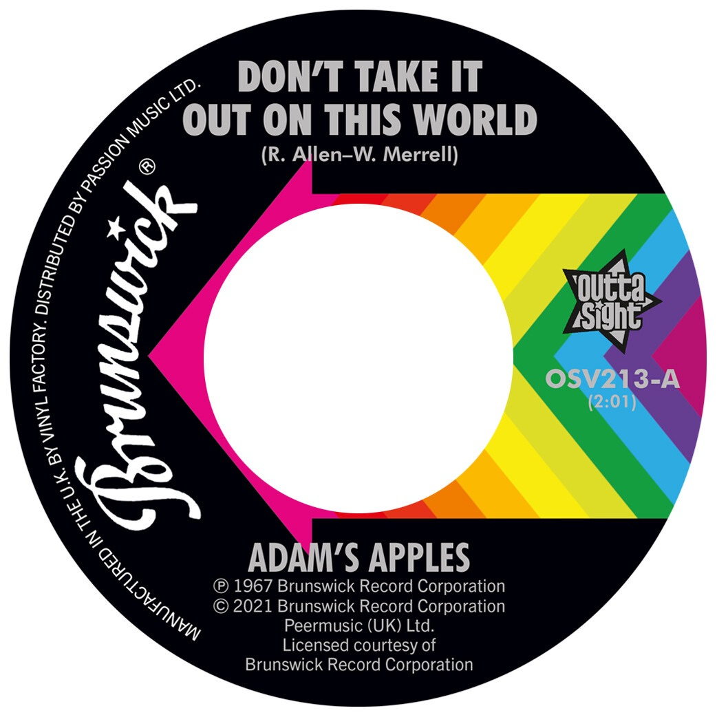 ADAM'S APPLES / THE COOPERETTES - DON'T TAKE IT OUT ON THIS WORLD / SHING-A