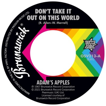 ADAM'S APPLES / THE COOPERETTES - DON'T TAKE IT OUT ON THIS WORLD / SHING-A-LING