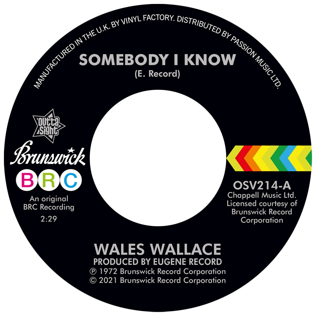 WALES WALLACE / WALTER JACKSON - SOMEBODY I KNOW / LET ME COME BACK