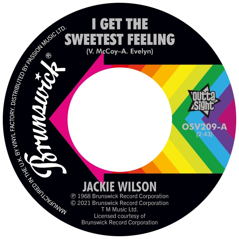 JACKIE WILSON - I GET THE SWEETEST FEELING / IT ONLY HAPPENS WHEN I LOOK AT