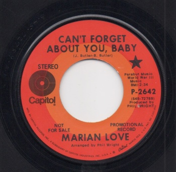 MARIAN LOVE - CAN'T FORGET ABOUT YOU, BABY