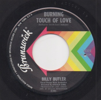 BILLY BUTLER - BURNING TOUCH OF LOVE / THANK YOU BABY