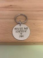 You're My Lobster - Personalised Keyring