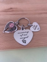 Mummy of an Angel Keyring - Personalised