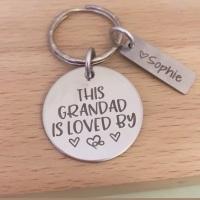 This Grandad is Loved By - Personalised Keyring
