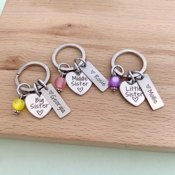 Sister Keyrings, Big, Middle, Little Sister