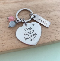 This Nanny Belongs To Keyring - With Beads
