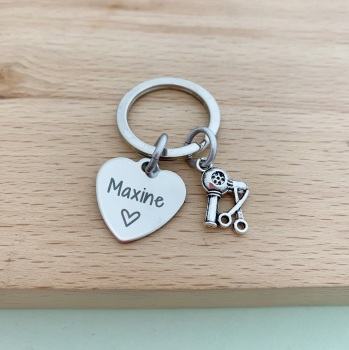 Hairdresser Name Keyring