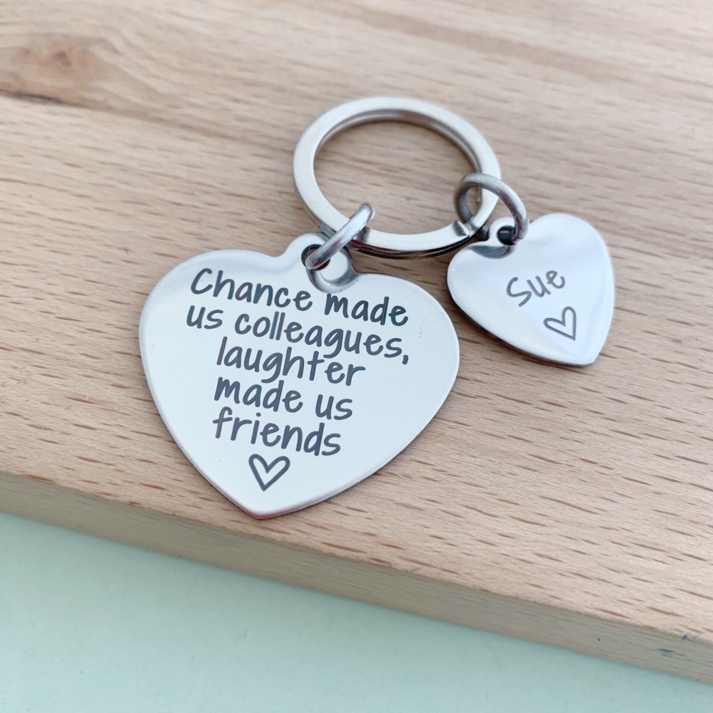 Colleagues Friends Keyring