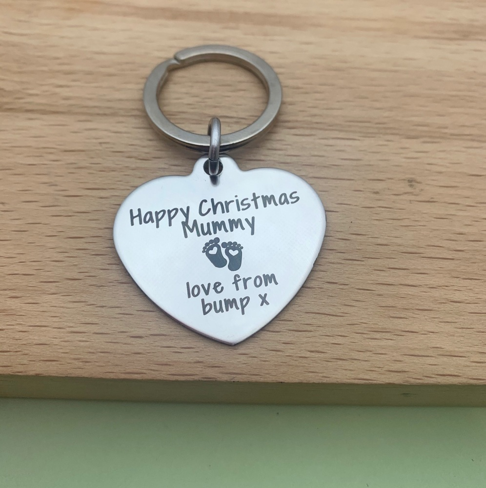 Mummy from the bump Keyring - Christmas