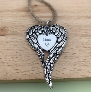 Angel Wings Decoration, Memorial, Christmas Tree Decoration