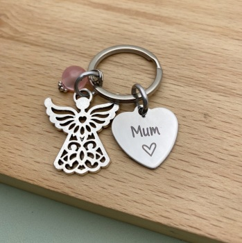 Angel Name Keyring
