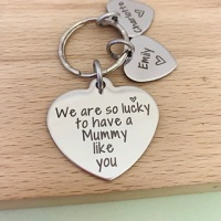 Mummy Personalised Keyring - We Are So Lucky