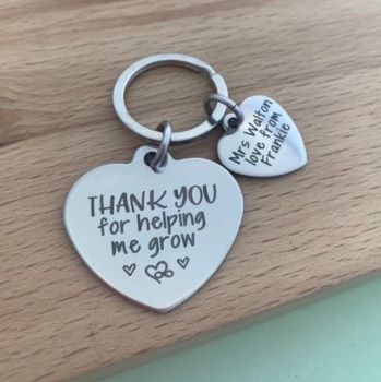 Thank You For Helping Me Grow Keyring