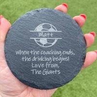 Football Coach | Thank You | SLATE COASTER