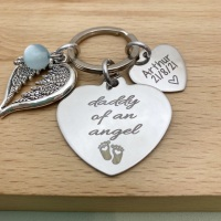 Daddy of an Angel Keyring - Personalised