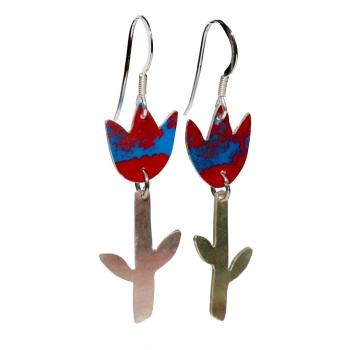 Variegated Tulip earrings