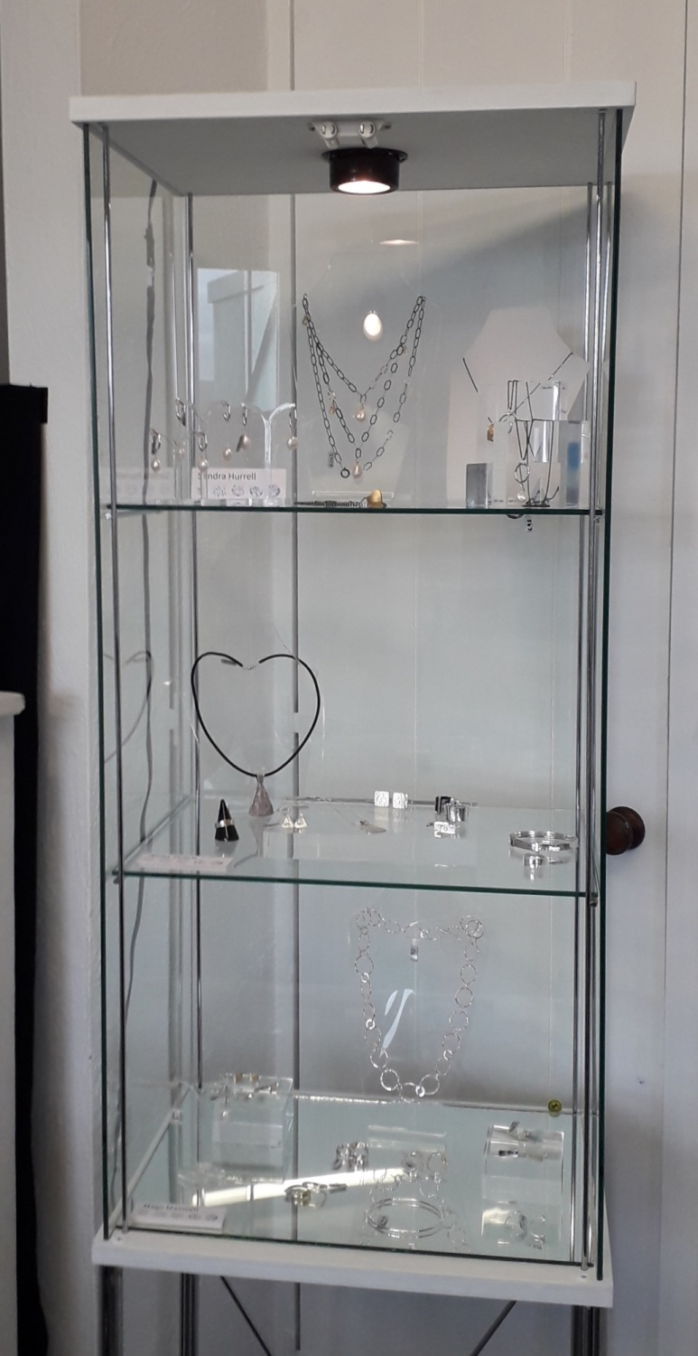 cabinet full of lvely jewellery
