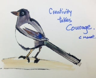 Creative Magpie sketch