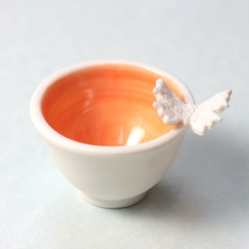 orange butterfly dish