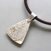 Reticulated Silver Pendant Hallmarked