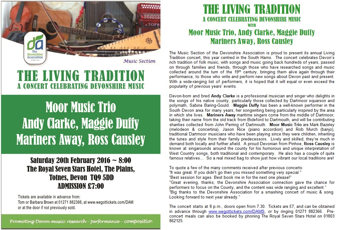 living trad concert flyer