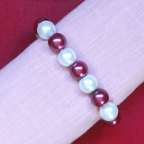 Glass Pearl Napkin Ring