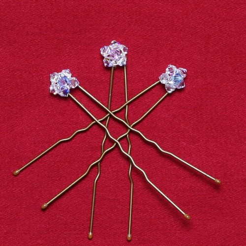 Stella Crystal Flower Hair Pins