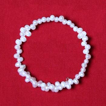 Perla - Rice Pearl Wrap Bracelet
