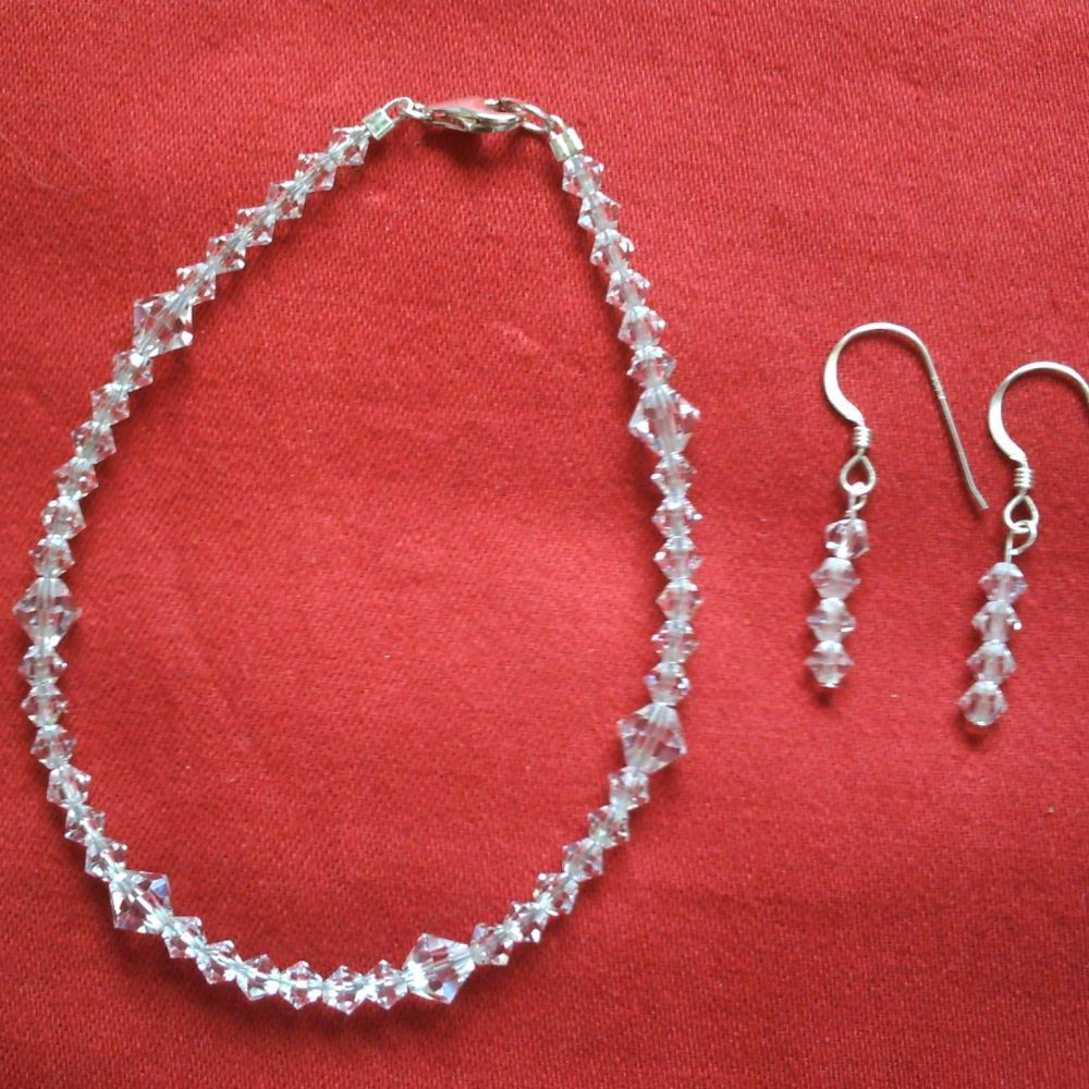 Crystal Bracelet & Earrings
