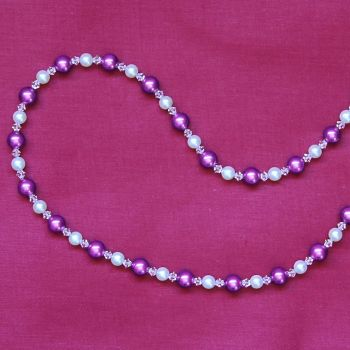 Antonia - Swarovski Crystal & Glass Pearl Necklace