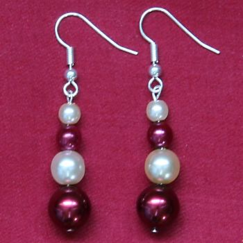 Alessa - Glass Pearl Earrings